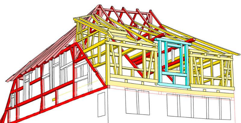 Фахверковый фасад (схема конструкций)