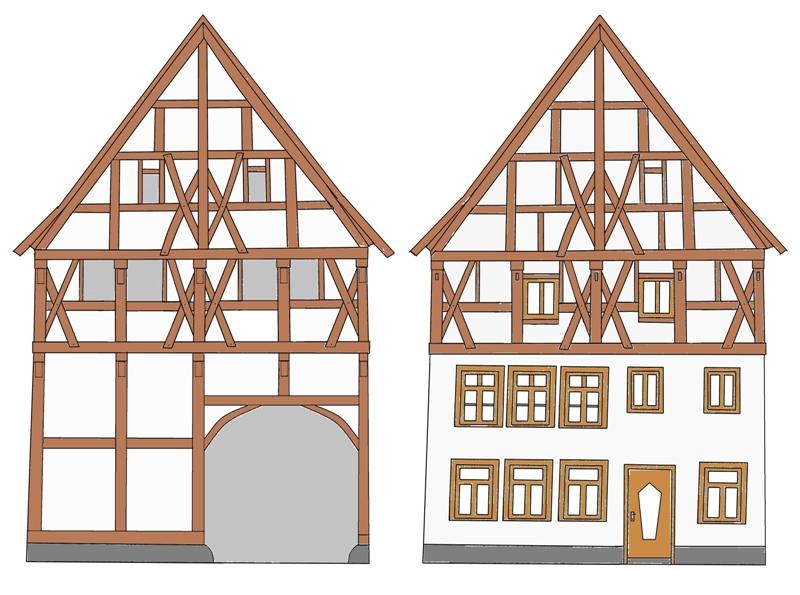 Фахверковый фасад (чертеж)