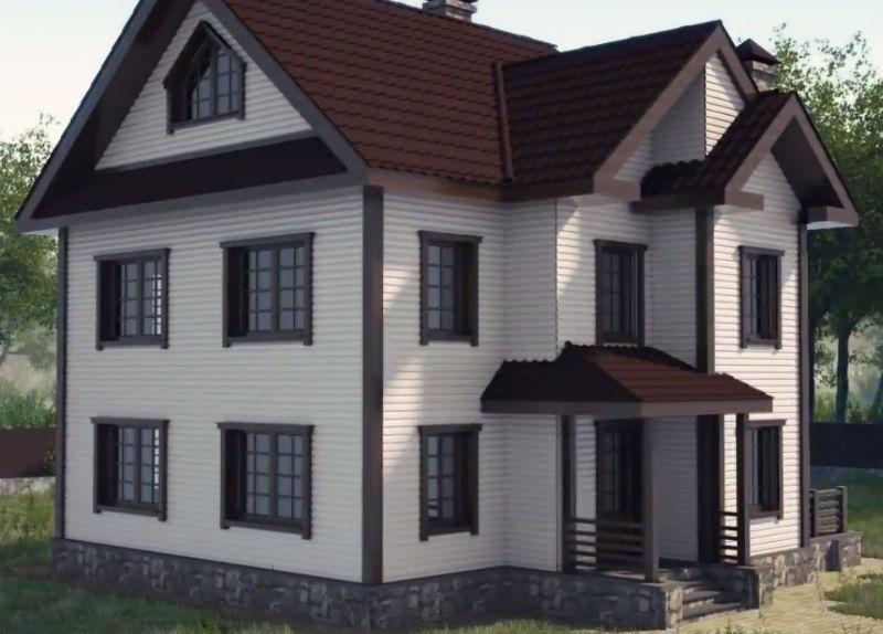 Законченный фасад частного дома