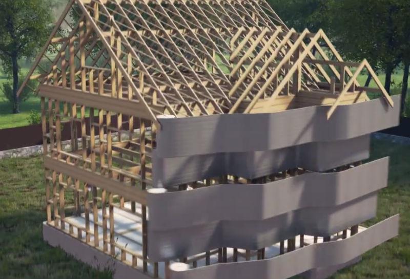 Технология декоративной отделки, утепление и облицовки фасада каркасного дома