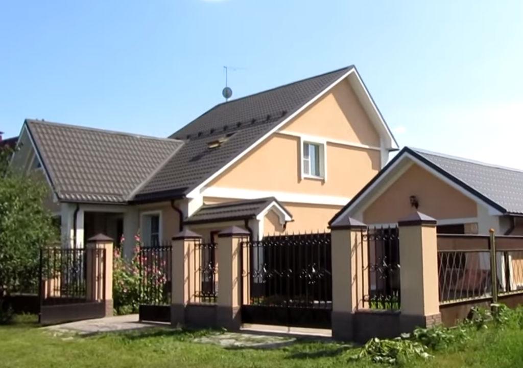 Фото дома утепленного по технологии  Мокрый фасад