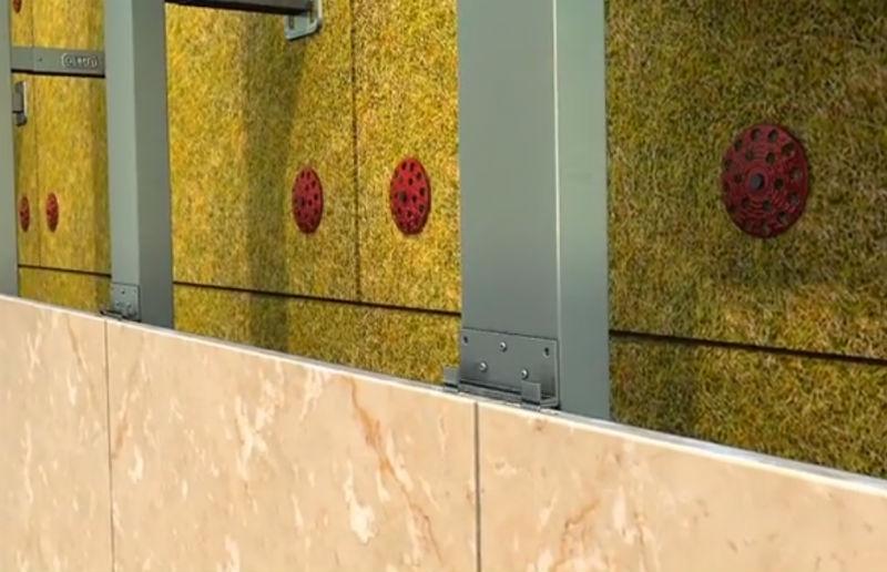 Монтаж керамогранитной плитки на фасад