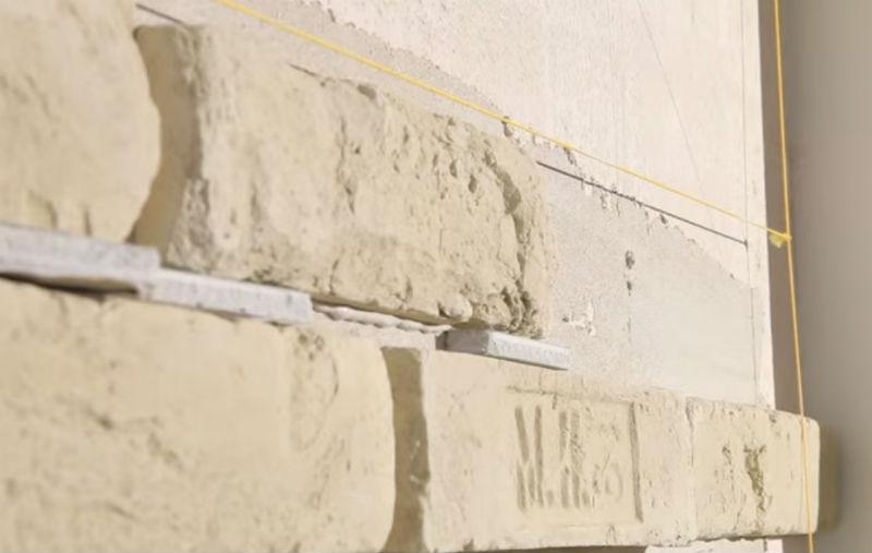 Укладка камня с расшивкой швов