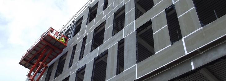 Облицовка фасада плитами ЦСП