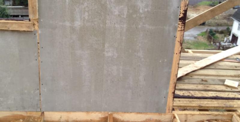 Лист ЦСП на фасаде каркасного дома