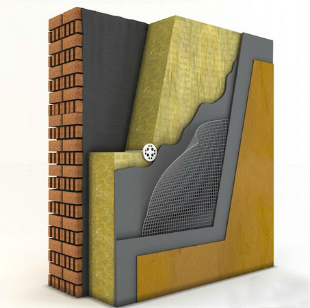 устройство штукатурного фасада