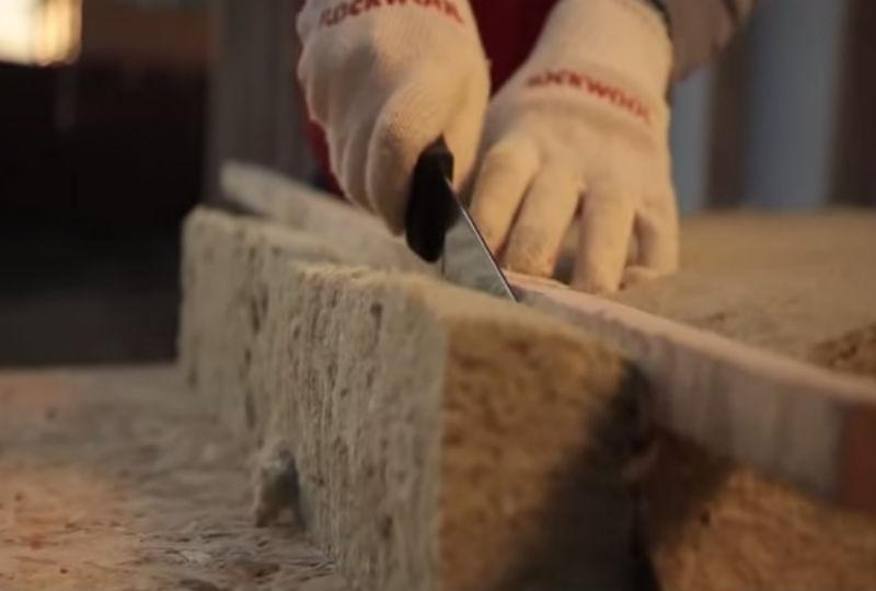 Подрезаем минеральную вату