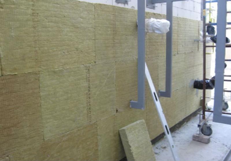 Утепление стен фасада базальтовыми плитами