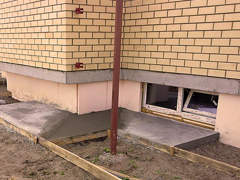Укладка бетона по секциям
