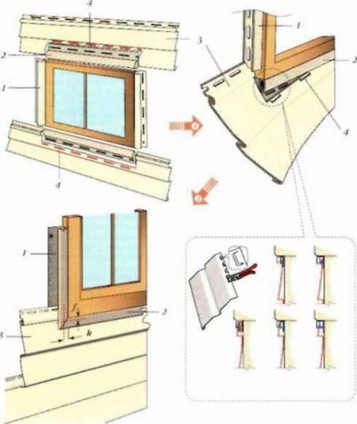 Монтаж сайдинга около окна