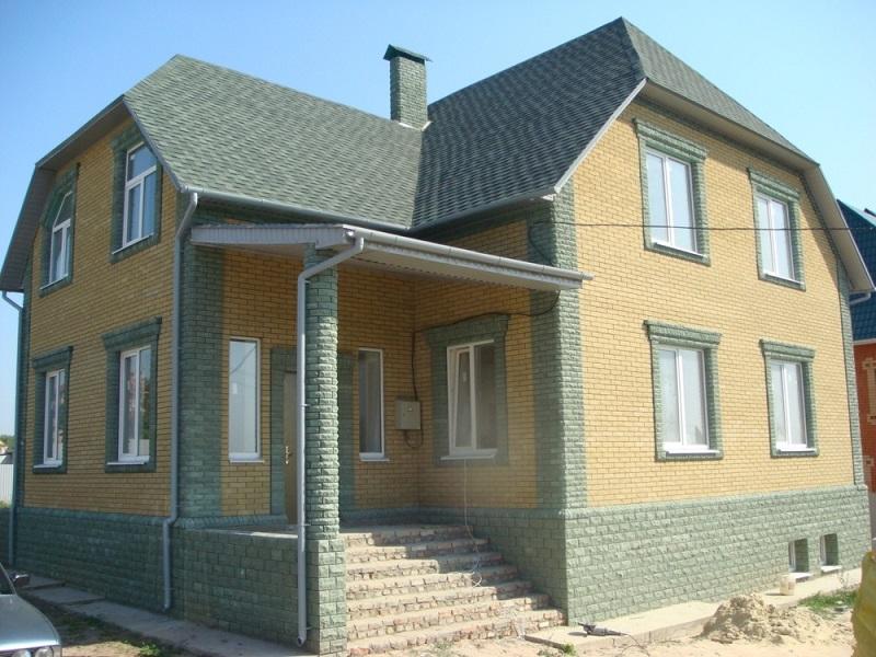 Облицовка фасада дома кирпичом  своими руками