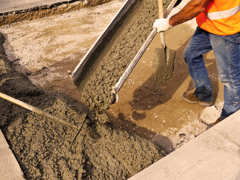 Приемка бетона из миксера