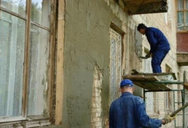 Ремонт кирпичного фасада