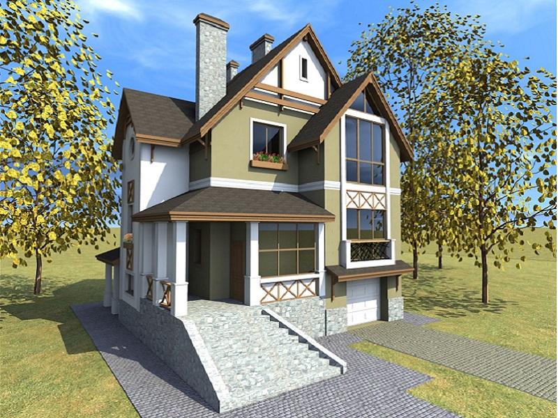 Проект дачного дома с верандой, ДА-264 - ООО