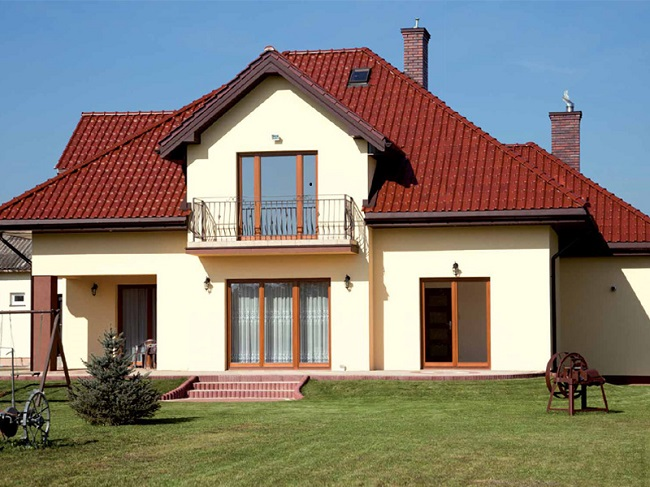 Дом из газобетона с красивым фасадом