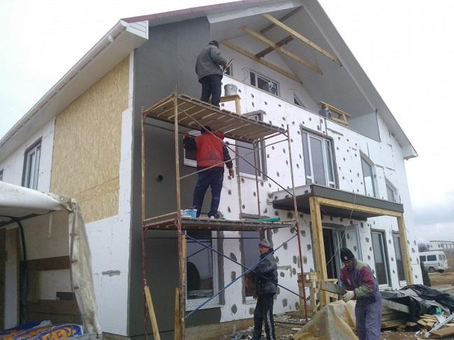 Утепление пенопластом строения из сип панелей
