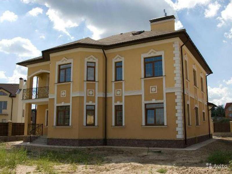 Фасады частных домов штукатурка фото