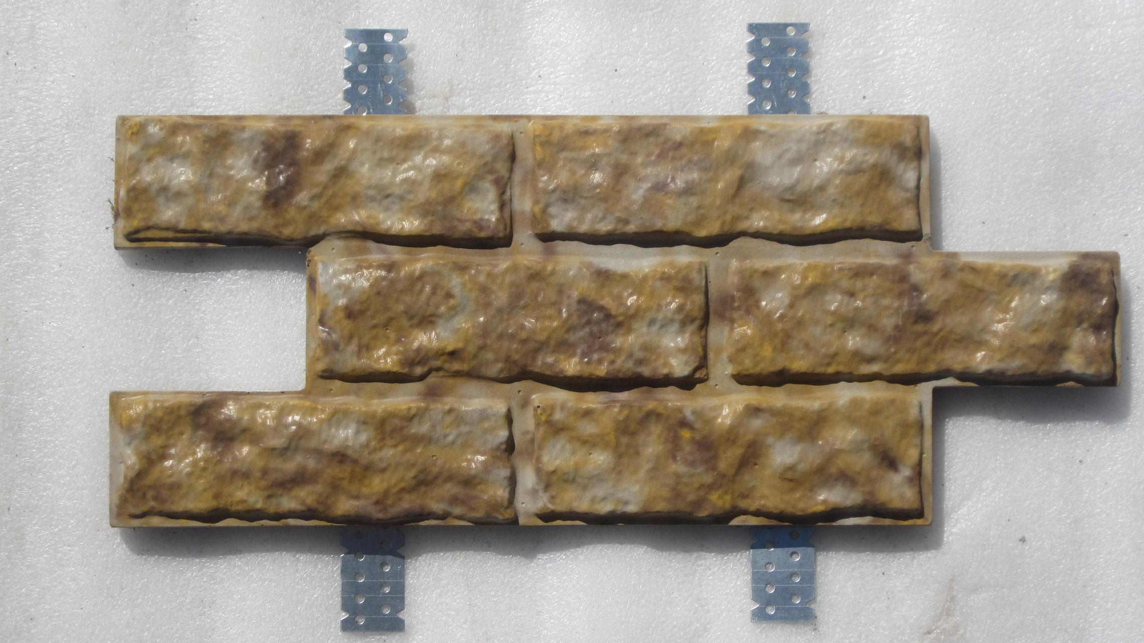 Фасадная бетонная плитка с креплениями