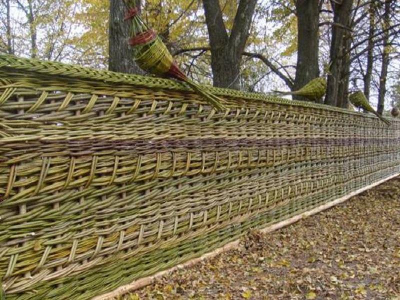 Дачный забор своими руками