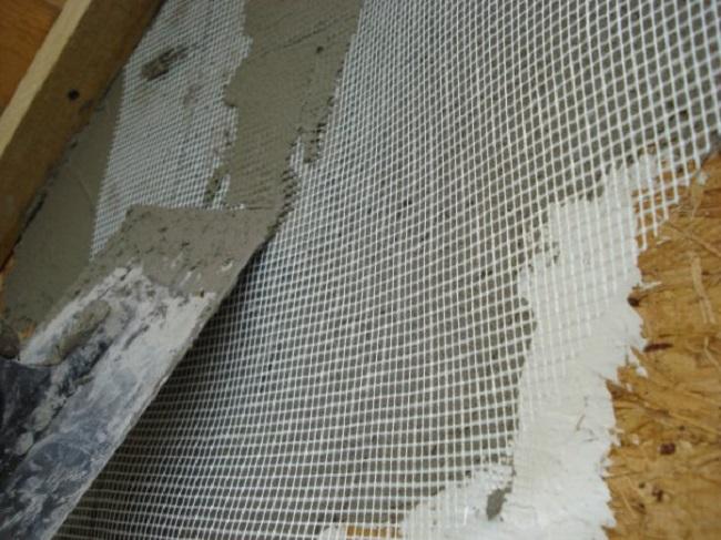 Монтаж сетки штукатурной фасадной