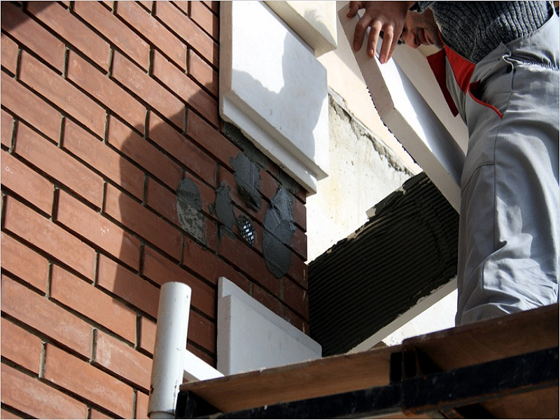 Фасадный клей позволяет создать эклюзивную внешнюю отделку зданий