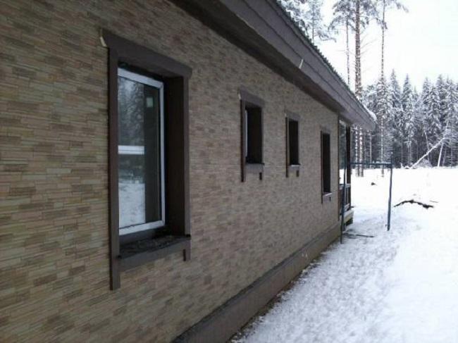 Фасад под дерево из фибро-цементных панелей