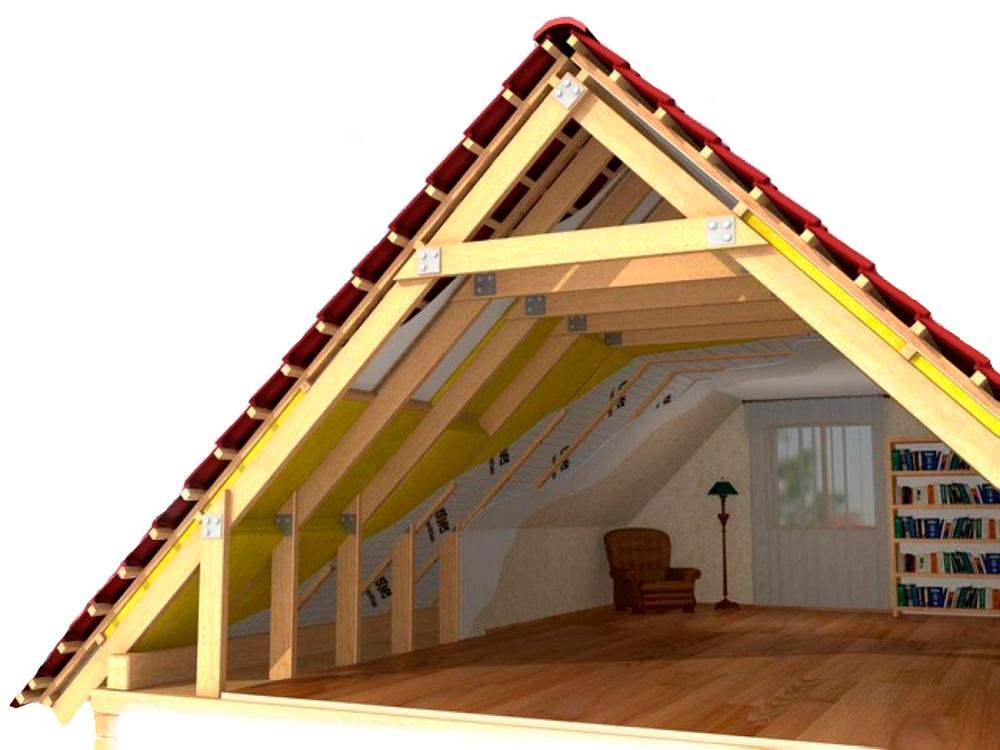 Как сделать мансарду в двускатной крыше 532