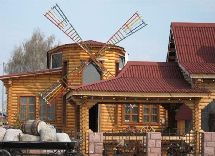 Ондулин подходит для крыши любой формы