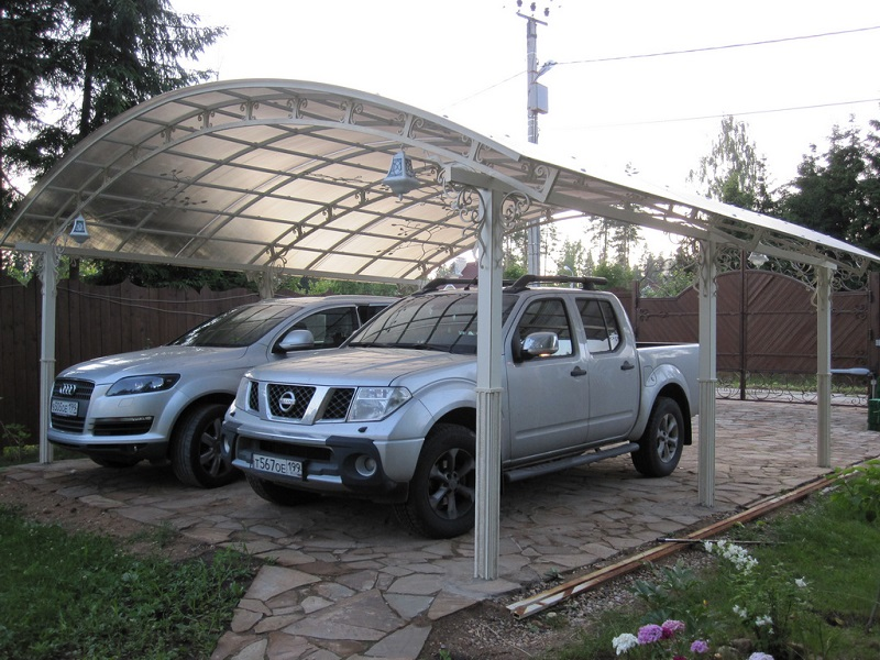 Как сделать на даче стоянку для машин