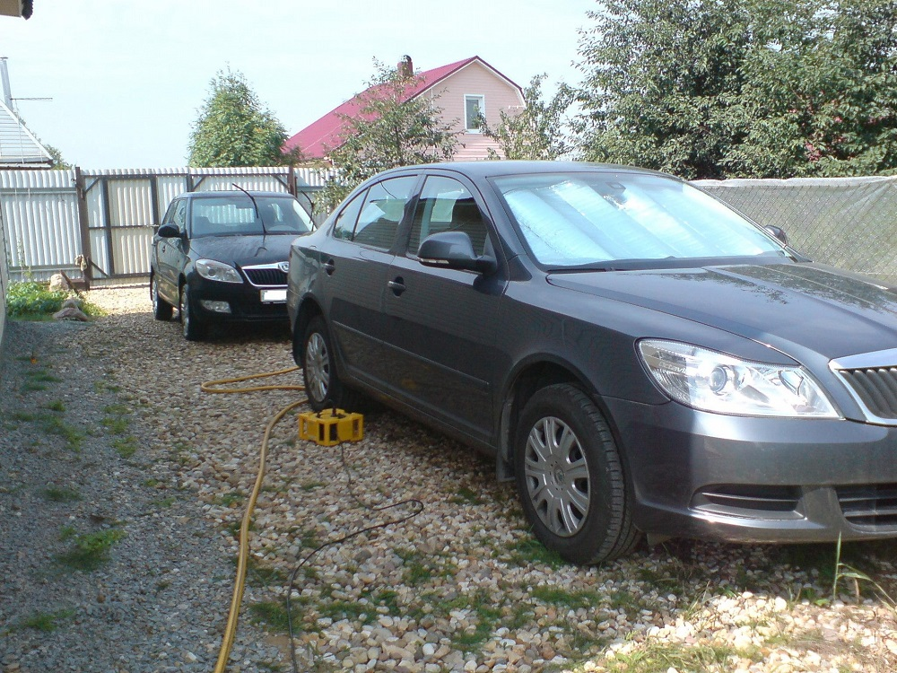 Парковка из песка и гравия