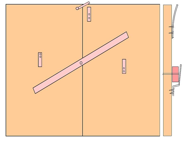 Схема вертушки для калитки