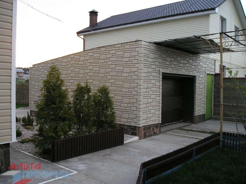 Фото дома с фасадными панелями Альта профиль