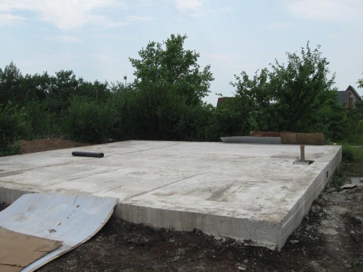 Монолитная плита-фундамент